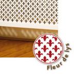 Pattern Fleur de lys perforated panel
