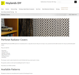 Hoylands DIY for radiator covers